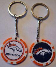 Denver Broncos Football Poker Chip Keychain Key Chain