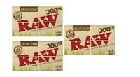 3 packs RAW 300 ORGANIC Natural unrefined Hemp Rolling paper 1 1/4 = 900 papers