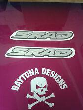 GSXR SRAD CHROME & BLACK PAIR SEAT UNIT FAIRING GRAPHICS DECALS STICKERS