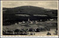 Johanngeorgenstadt Sachsen alte Postkarte 1935 Panorama mit Plattenberg Kirche