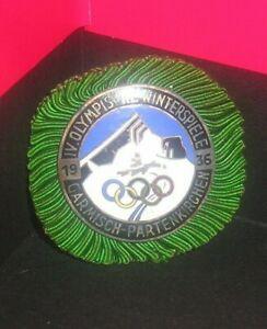 1936 GARMISCH OLYMPIC PRESS (PRESSE) BADGE PIN - GERMANY IOC CIO