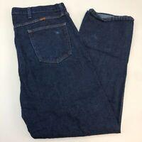 Rustler Denim Jeans Mens 42X32 Blue Straight Leg 100% Cotton Medium Wash Zip Fly