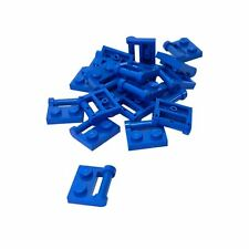 20 New Lego Plate, Modified 1 x 2 with Handle on Side - Closed Ends Blue