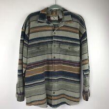 Vintage 90s Bugle Boy Wetlands Button Shirt Hipster Aztec Flannel Blanket Medium