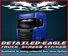 Pantalla de viento Águila Camión Camión Pegatina de cristal de la ventana de cabina ambiente MAN DAF Scania Iveco