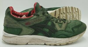 Asics Gel-Lyte V Suede Christmas Trainers H6R2L Green/Red UK8/US9/EU42.5