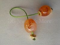Greek Begleri mini komboloi smoky honey trasparent 18mm bead gp tinas creations
