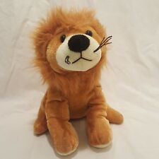 "Lion Sitting Plush Stuffed Animal 7"" Toy Africa Cat Brown Hunson Trading Company"