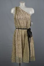 Badgley Mischka for Cache NWT womans dress sz 12 Gold Black Original price $258
