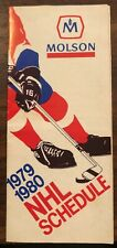 1979-80 Molson NHL schedule Wayne Gretzkys first year GREAT DETAIL Never on EBAY
