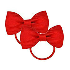 Bow Hair inch knot Clips Girls Baby Kids Elastic Bobbles School Bows Band Bobble