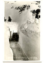 Snow Go Truck-Clear Road-Lassen Park-California-RPPC-Vintage Real Photo Postcard