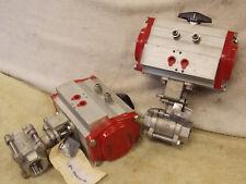 "Bray Flow Tek series 93 Pneumatic Actuator 93-0834-113A0-532 1"" ss Ball Valve"