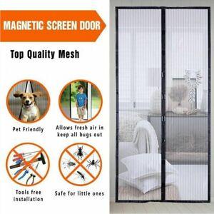 Rideau Moustiquaire Kit de porte Fermeture magnétique 100x210cm Anti moustiques