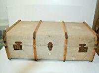 Vintage Travel Trunk Suitcase Canvas for Display Props Décor Storage