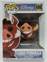 Funko Pop! Disney The Lion King #498 Luau Pumbaa + Pop Protector Damaged Box