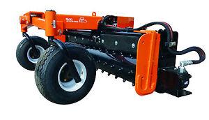 "84"" Hyd Angle Soil Conditioner Power Rake Skid Steer Loader Bobcat Attachment"