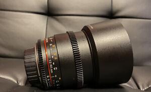 Rokinon 85mm T1.5 Cine Lens for Nikon