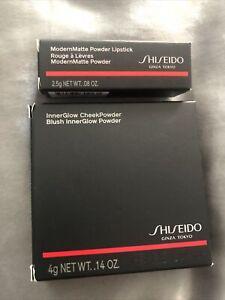 Shiseido InnerGlow Cheek Powder 10Medusa Pink/4g +RoseHip Matte Lipstick#517(New