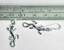US Seller Sterling Silver Lizard Dangle Earrings Pair 925 Fashion