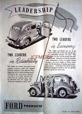 Ford ANGLIA & PREFECT 1952 Saloon Motor Cars AD #2 - Original Auto Print ADVERT
