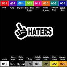 HATERS V2 Vinyl Decal JDM Sticker Window Car