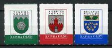 Latvia 2019 MNH Coats of Arms Cities & Regions 3v S/A CoA Set Tourism Stamps