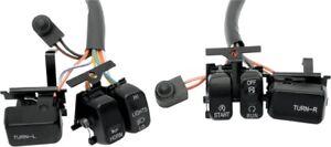Drag Specialties Handlebar Switch Kit Black 0616-0054 H18-0335B 0616-0054