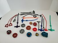 Beyblade Lot of Metal And Plastic Spinners Launchers Ripcords Hasbro Spinner