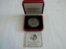 More details for 1999 gibraltar £5 millennium titanium coin in case with coa