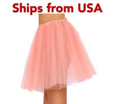 Tutu Skirts for Women 3 Layered Mini Party Dance Tulle Dress Pink Younglove