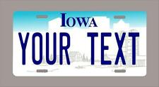 """Iowa custom novelty license plate-your name or text 6""""x12""""-FREE SHIPPING"""