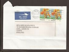Malaysia modern airmail cover. Orchid, flowers
