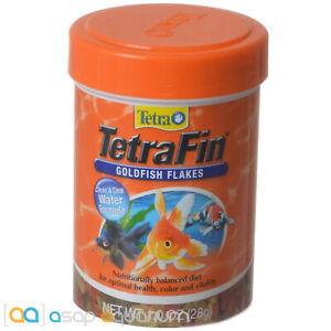 Tetra TetraFin Goldfish Flakes 1oz (28g) Fish Food Clean Clear Water Formula