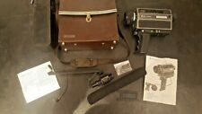 Vintage Bell & Howell Filmosonic Super 8 Sound Movie Camera 1223 with mic etc
