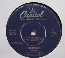 "NAT KING COLE - Impossible - Excellent Condition 7"" Single Capitol CL 15345"