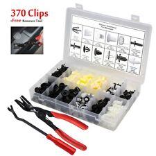 370 Clips+Tool x2 Bumper Trim Panel Retainer Body Fastener Rivet For Mitsubishi