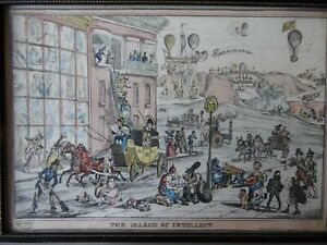 The March of Intellect, Georgian Satirical Etching 1828