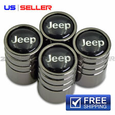 VALVE STEM CAPS WHEEL TIRE BLACK FOR JEEP - US SELLER VE15