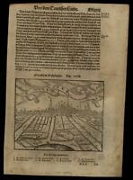 Munster Germany Westfalia 1598 Munster Cosmography wood cut print city view