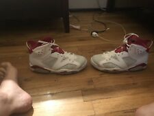"Air Jordan Retro 6 VI White/Varsity Red ""Bulls"" Size 8  with box"