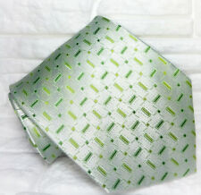 Green tie NEW 100% silk Top Quality  handmade Made in Italy  Morgana brand