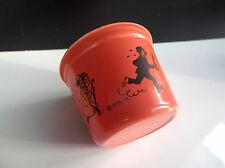 Rare ancien pot à glace coloré Tintin Editions du Lombard 1971 ETAT NEUF