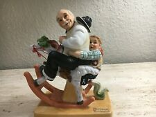 """Danbury Mint The 12 Norman Rockwell """"Gramps At The Reins"""" Figurine Le 1980"""