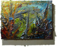 ORIGINAL OIL█PAINTING█VINTAGE█IMPRESSIONISM█ART REALIST SIGNED ABSTRACT OUTSIDER