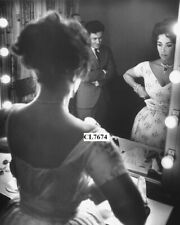 Eddie Fisher Admiring Elizabeth Taylor in the Dressing Room before His Show