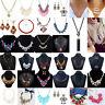 Fashion Jewelry Rhinestone Crystal Choker Chunky Statement Bib Pendant Necklace