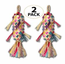 03113 Pk2 Small Spiked Pinata Bird Toy Cage Toys Foraging Chew Shredder Conure