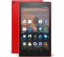 "NEW Amazon Kindle Fire HD 8 8"" Tablet 16GB w/Alexa 7th Gen 2017 WiFi Punch Red"