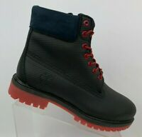 Timberland Men's 6 Inch Premium Waterproof Boot Black Red Helcor Size 9